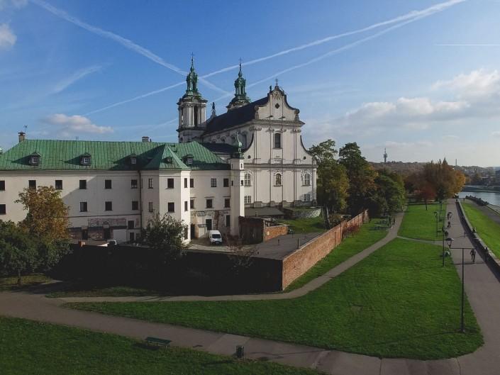 Zdjęcie z powietrza - Kościół na Skałce w Krakowie