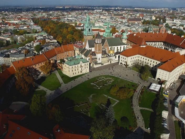 Usługi dronem nad Krakowem