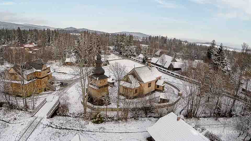 Orawski Park Etnograficzny zdjęcia z powietrza