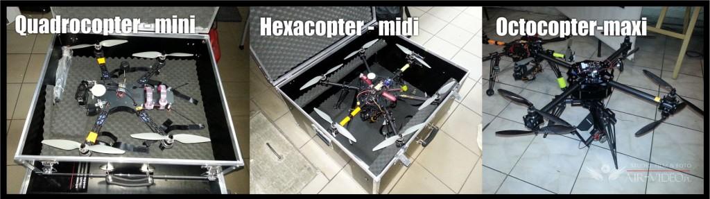Quadrocopter - hexacopter - octocopter platformy latajace do filmowania