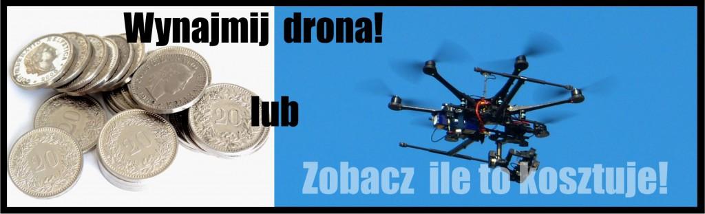Cennik usług filmowania z lotu ptaka przy użyciu dronów.
