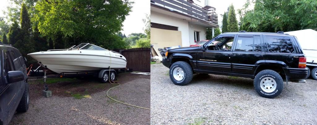 Do dyspozycji mamy między innymi samochody z napędem 4x4 oraz łodzie motorowe