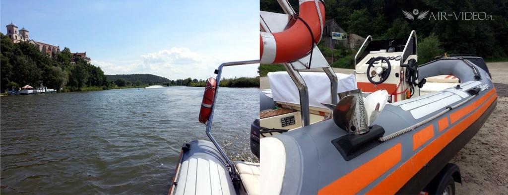 RIB szybka łódź motorowa do ujęć specjalnych
