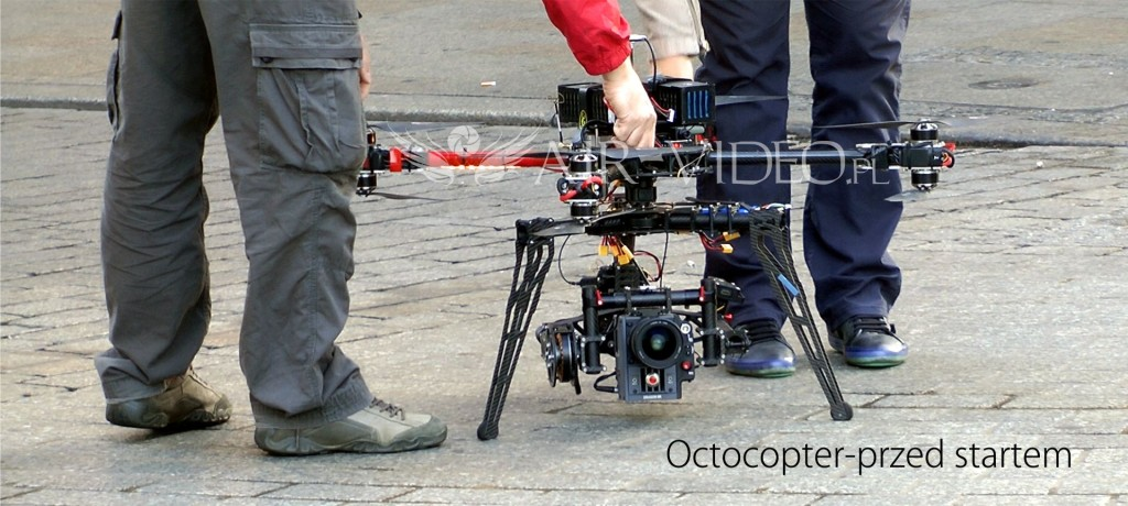 Dron do filmowania i fotografii - octocopter